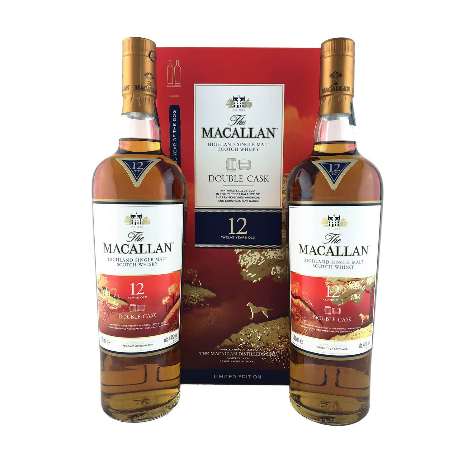 0f797021522 The Macallan 12 Year Old Double Cask Chinese New Year 2018 – 2 x 700ml 40%  Limited edition 2 x 700ml twin pack release celebrating the Chinese New Year